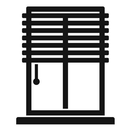 Window installation icon, simple style