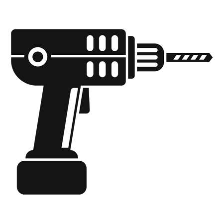 Electric drill icon, simple style