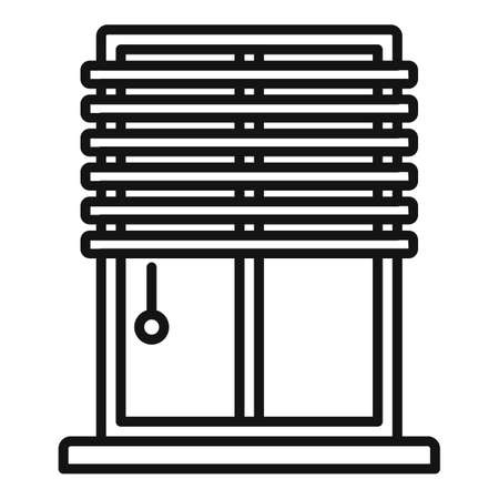 Window installation icon, outline style