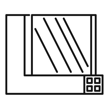 Windows section icon, outline style