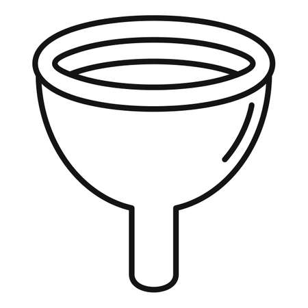 Gynecology tool icon, outline style Ilustração
