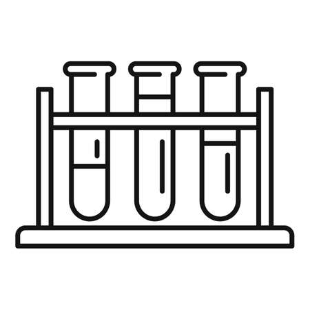 Gynecologist test tubes icon, outline style