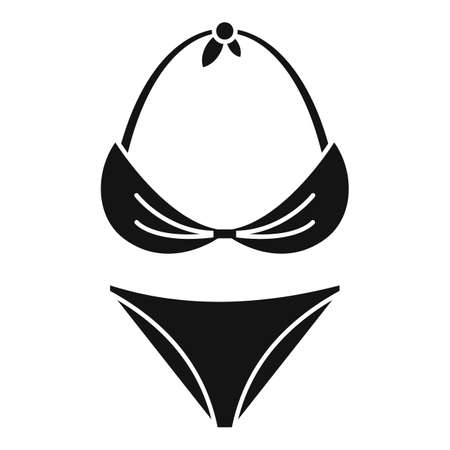 Swimsuit icon, simple style