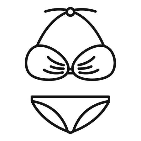 Dress swimsuit icon, outline style Ilustracja