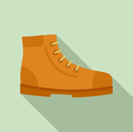 Hiking boot icon, flat style