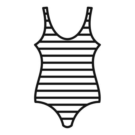 Bathing swimsuit icon, outline style