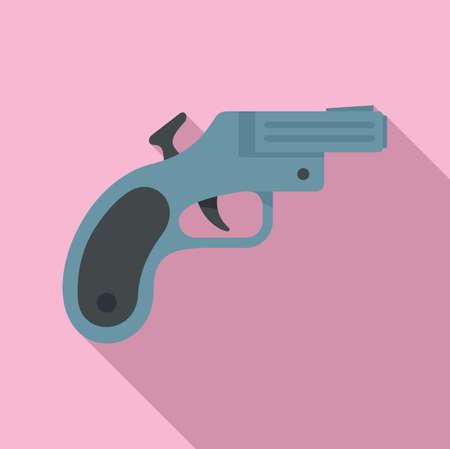 Flare gun icon, flat style Zdjęcie Seryjne