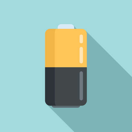 Survival battery icon, flat style