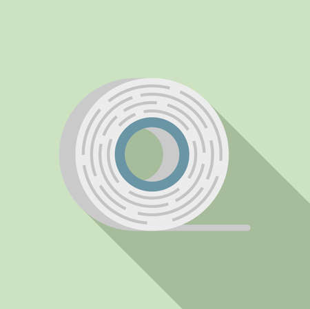 Survival tape icon, flat style