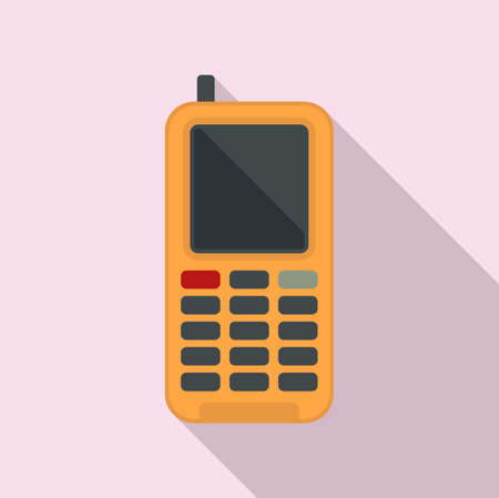 Survival phone icon, flat style