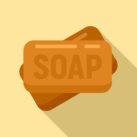 Survival soap icon, flat style