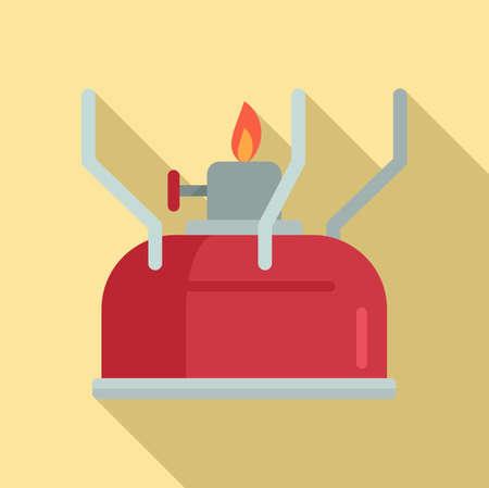 Survival gas lamp icon, flat style Ilustracja