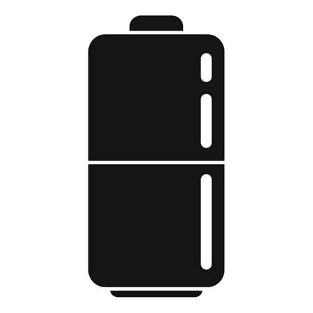 Survival battery icon, simple style