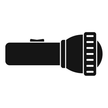 Survival flashlight icon, simple style
