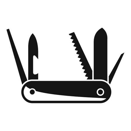 Survival knife icon, simple style