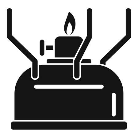 Survival gas lamp icon, simple style