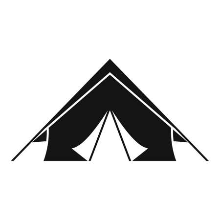 Survival tent icon, simple style