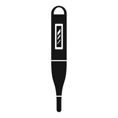 Personal electric thermometer icon, simple style