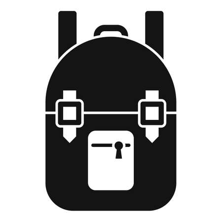 Survival backpack icon, simple style