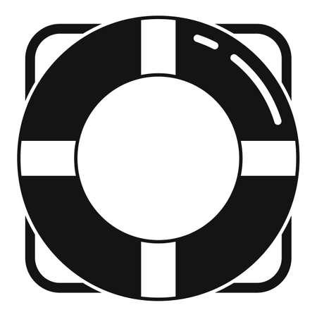 Survival life buoy icon, simple style