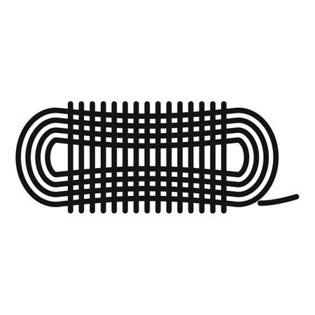 Survival rope icon, outline style