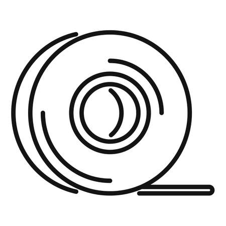 Survival tape icon, outline style