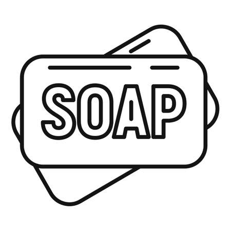 Survival soap icon, outline style