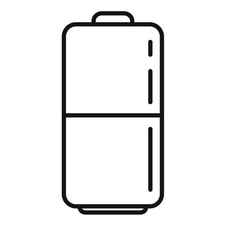 Survival battery icon, outline style Vectores