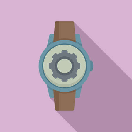 Father watch repair icon, flat style