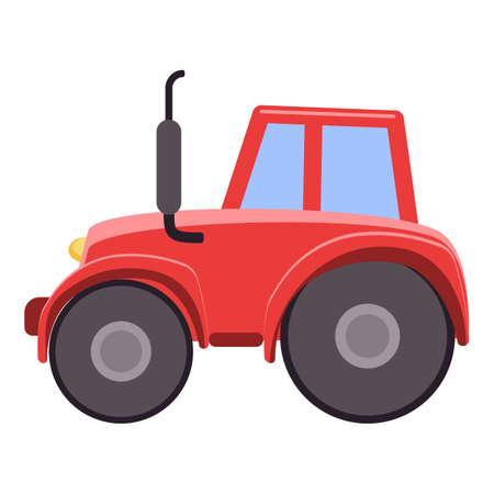 Farm tractor icon, cartoon style
