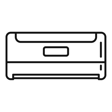 Balance air conditioner icon, outline style Illustration