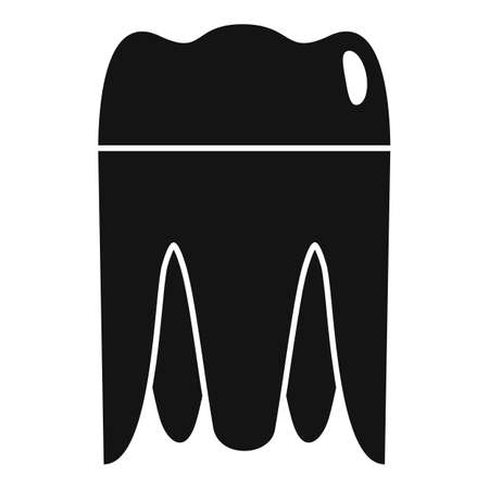 Metal tooth implant icon. Simple illustration of metal tooth implant vector icon for web design isolated on white background Illustration