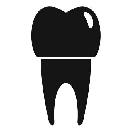 Tooth white implant icon. Simple illustration of tooth white implant vector icon for web design isolated on white background 向量圖像