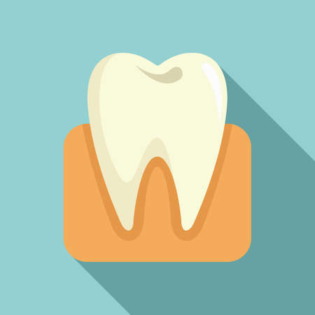 Healthy tooth icon. Flat illustration of healthy tooth vector icon for web design 矢量图像