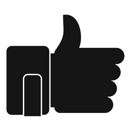Thumb up mission icon, simple style