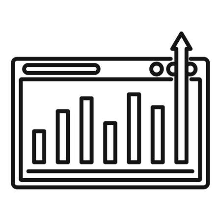 Graph chart mission icon, outline style