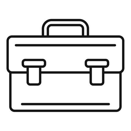 Leather bag icon, outline style