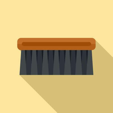 Shoe cleaning brush icon, flat style