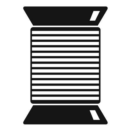 Thread coil icon, simple style