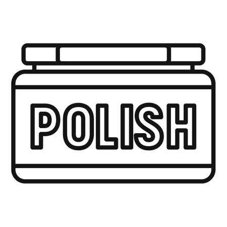 Shoe polish icon, outline style