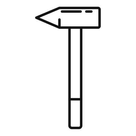 Shoe repair light hammer icon, outline style