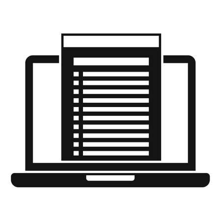 Laptop audit icon, simple style