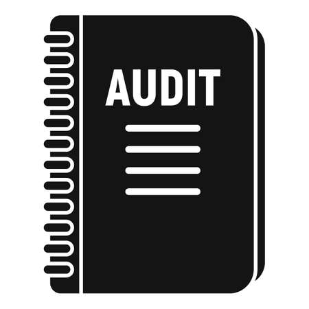 Audit notebook icon, simple style
