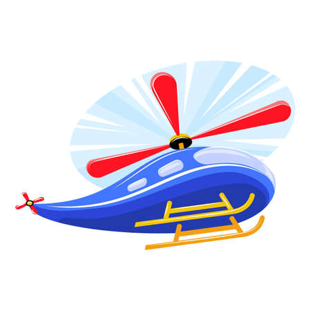 Rc toy helicopter icon, cartoon style