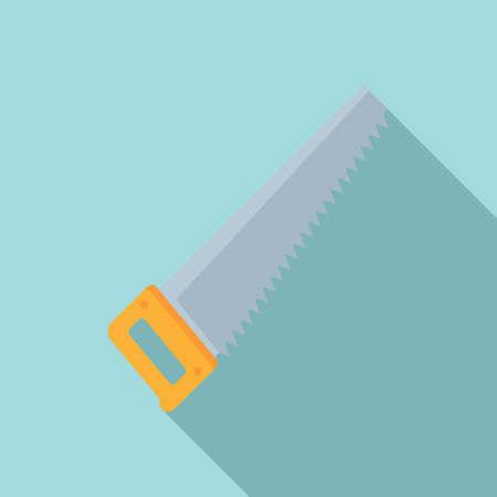Hand saw tool icon, flat style Illusztráció