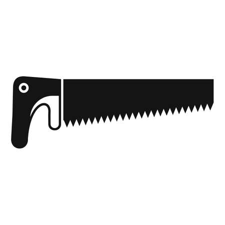 Crosscut saw icon, simple style Иллюстрация