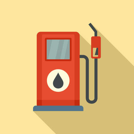 Gasoline station pump icon, flat style