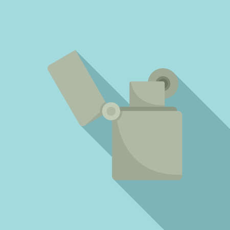 Gasoline lighter icon, flat style