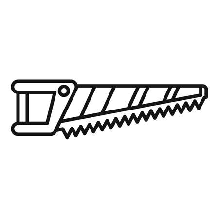 Blade hand saw icon, outline style Stock fotó