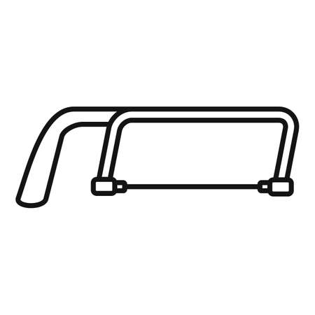 Hand hacksaw icon, outline style